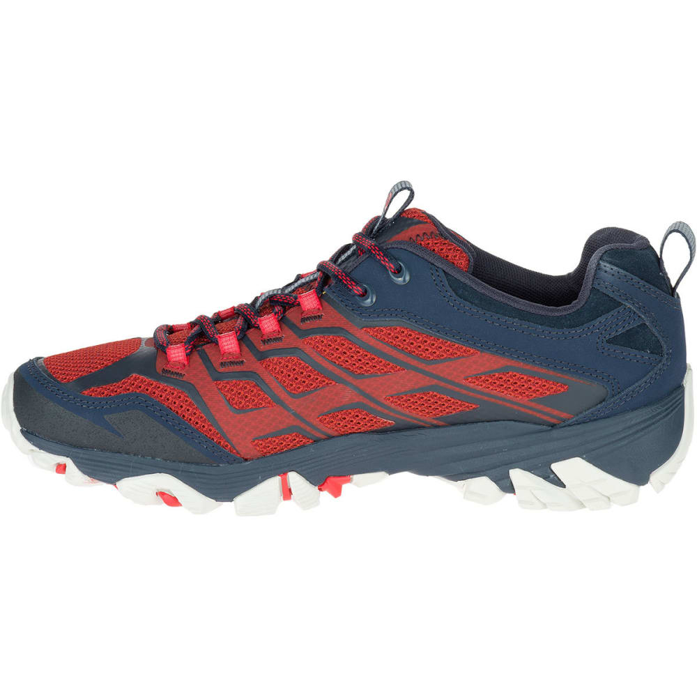Mens Merrell Moab FST Low Hiking Shoes NavyDark Red