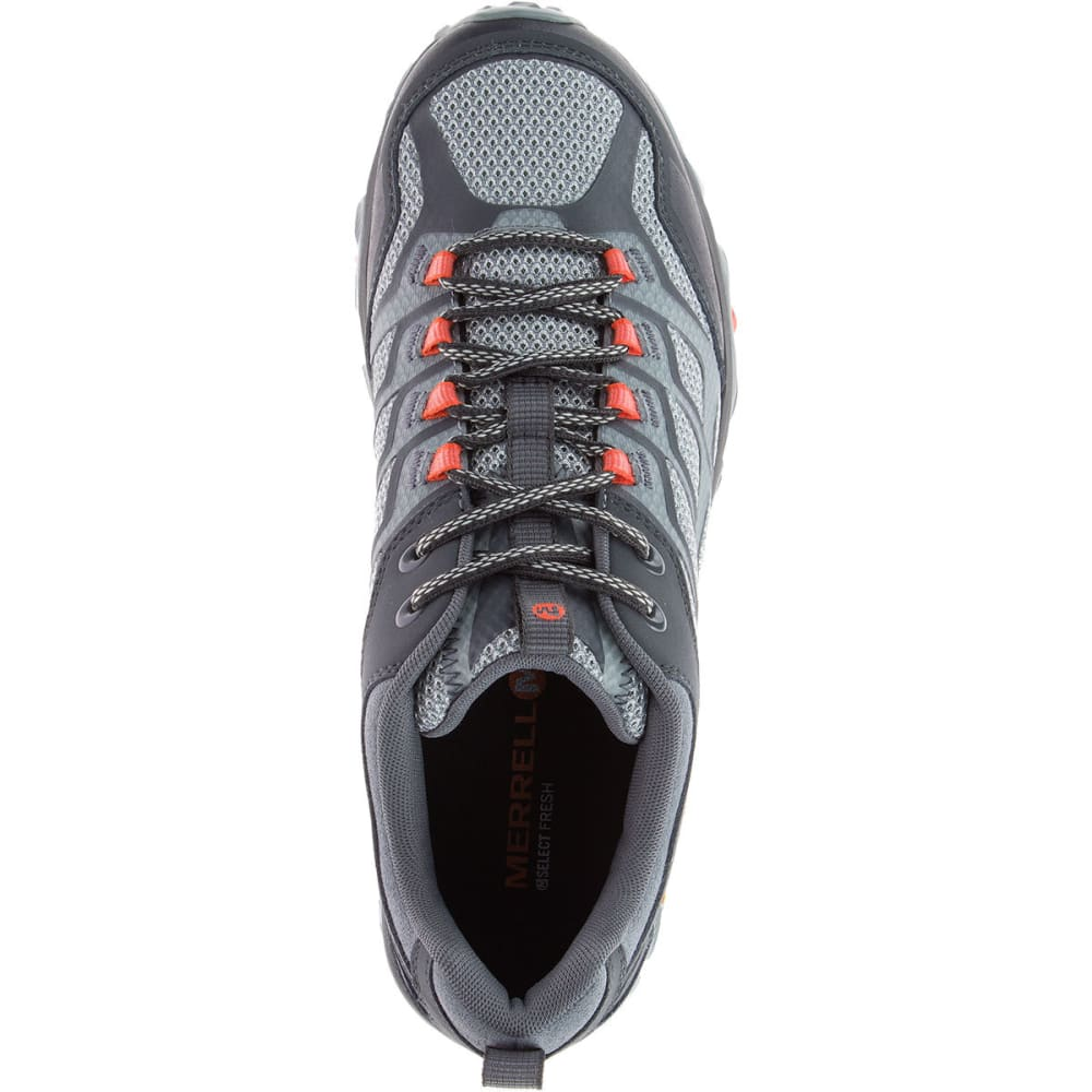 MERRELL Men's Moab FST Hiking Shoes, Grey/Orange - GREY/ORANGE
