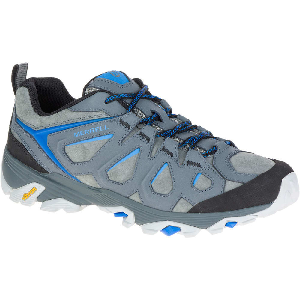 MERRELL Men's Moab FST Leather Hiking Shoes, Turbulence - TURBULENCE