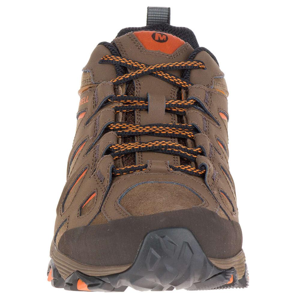MERRELL Men's Moab FST Leather Hiking Shoes, Dark Earth - DARK EARTH