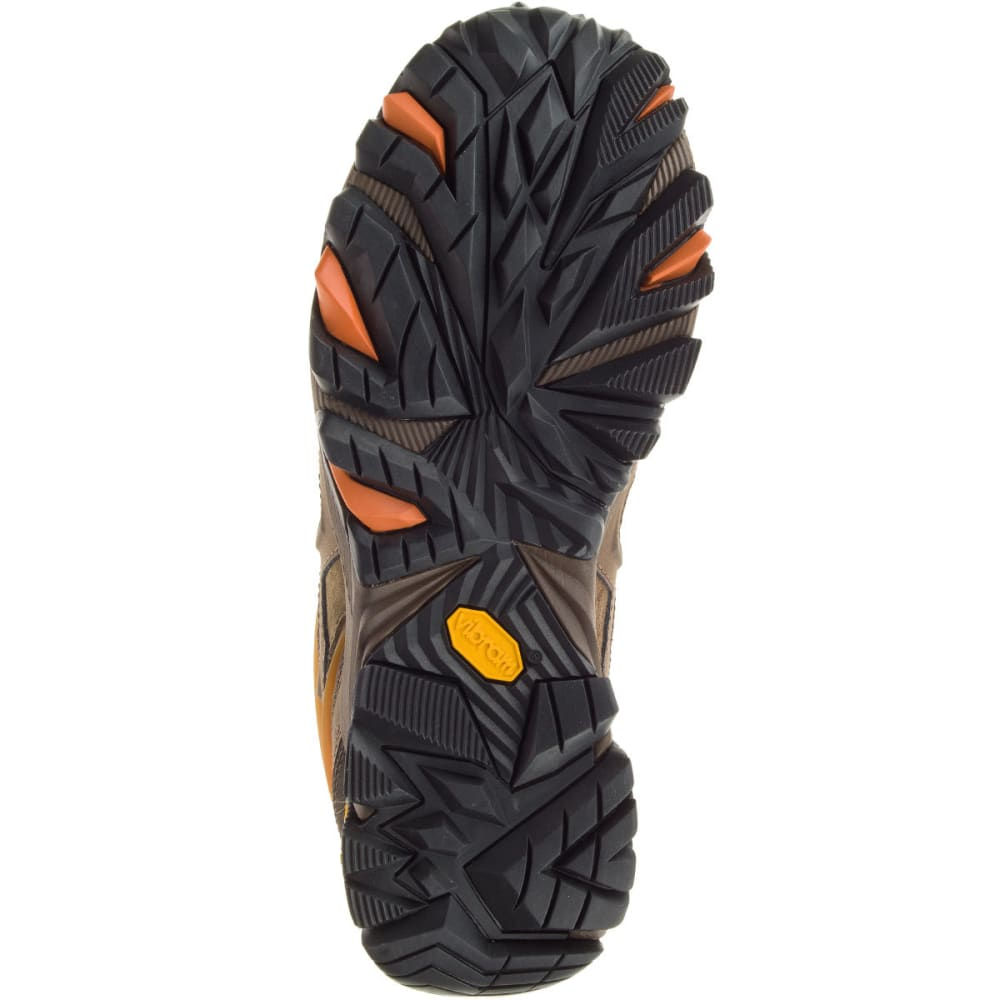 MERRELL Men's Moab FST Leather Hiking Shoes, Dark Earth - DARK EARTH