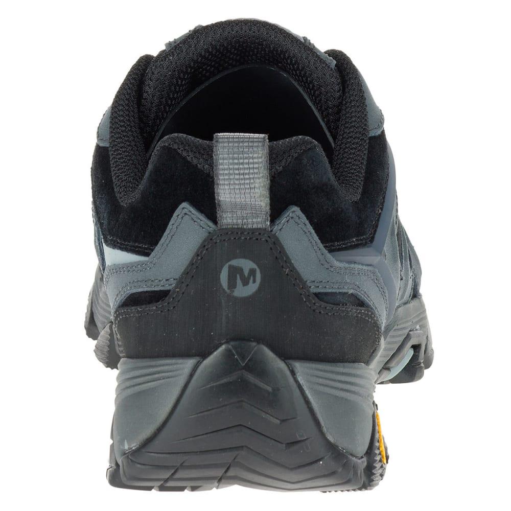 MERRELL Men's Moab FST Leather Hiking Shoes, Black/Granite - BLACK/GRANITE