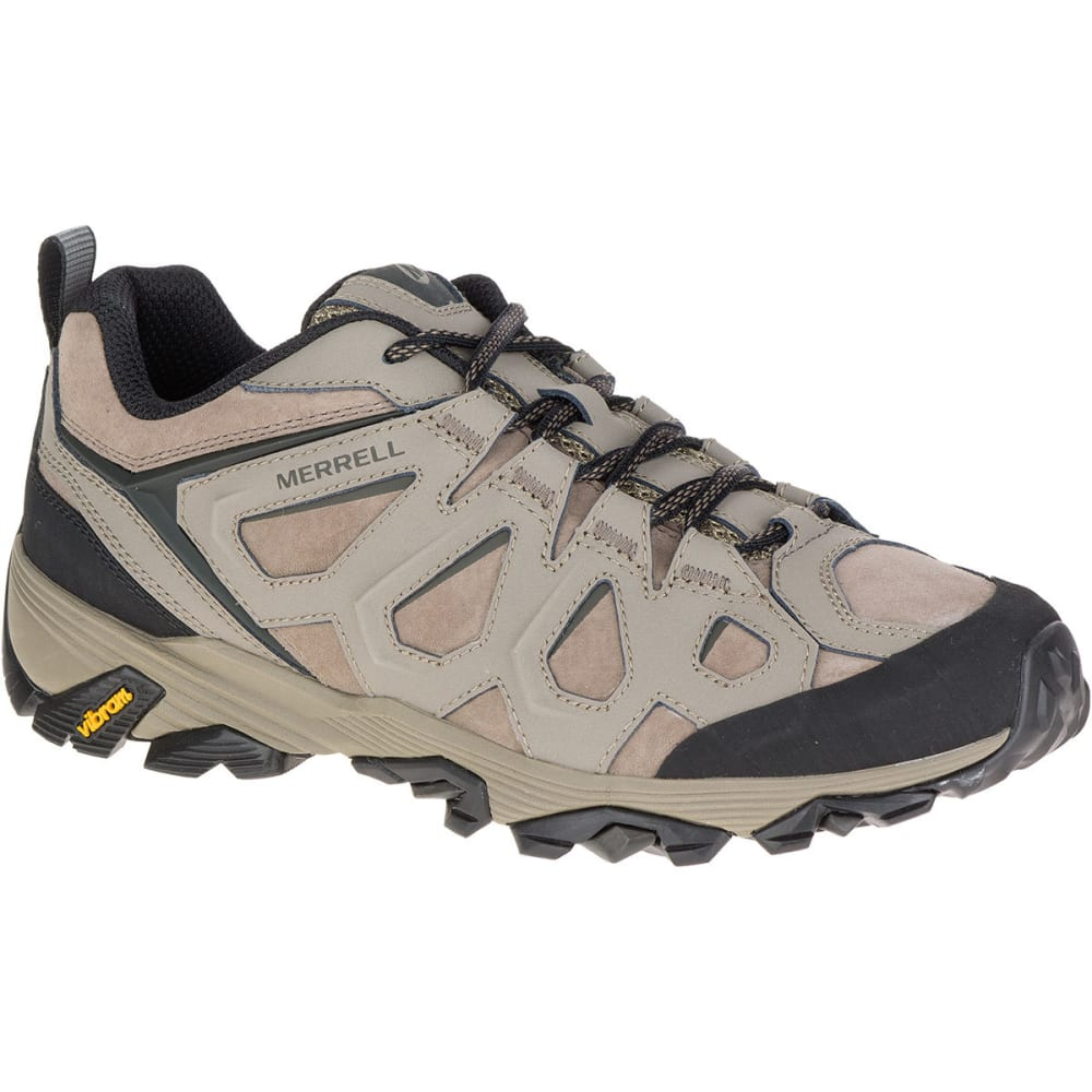 MERRELL Men's Moab FST Leather Hiking Shoes, Boulder - BOULDER