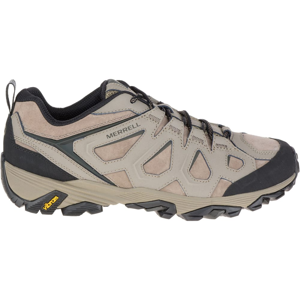 MERRELL Men's Moab FST Leather Hiking Shoes, Boulder, Wide - BOLDER