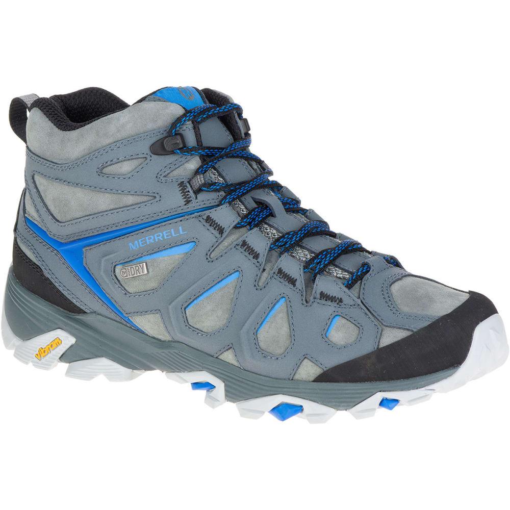 MERRELL Men's Moab FST Leather Mid Waterproof Hiking Boots, Turbulence 7