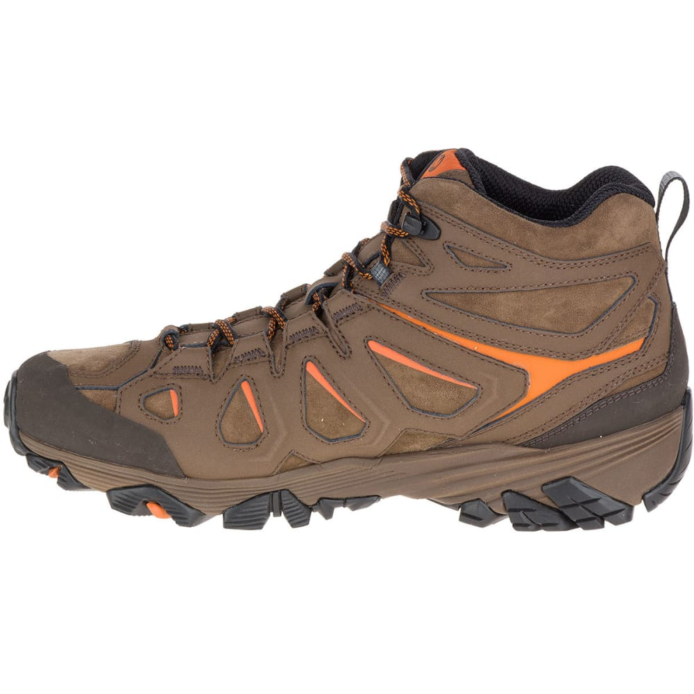 61ccf9fa520 MERRELL Men's Moab FST Leather Mid Waterproof Hiking Boots, Dark ...
