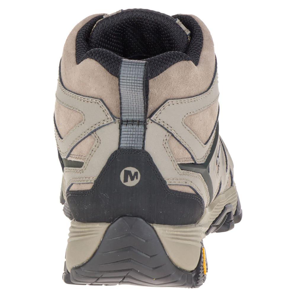 MERRELL Men's Moab FST Leather Mid Waterproof Hiking Boots, Boulder, Wide - BOULDER