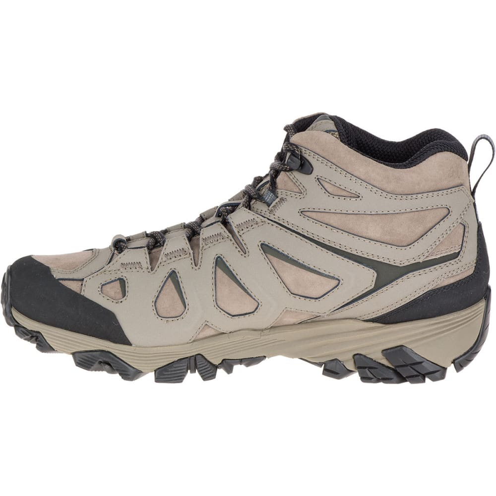 MERRELL Men's Moab FST Leather Mid Waterproof Hiking Boots, Boulder, Wide - BOULDER