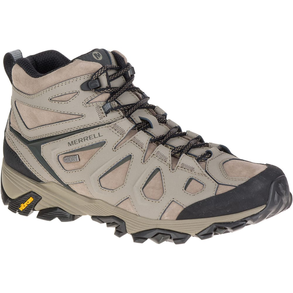 a93cfef6106 MERRELL Men's Moab FST Leather Mid Waterproof Hiking Boots, Boulder ...