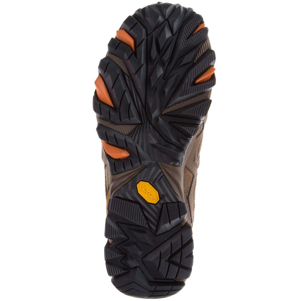 MERRELL Men's Moab FST Leather Waterproof Hiking Shoes, Dark Earth - DARK EARTH