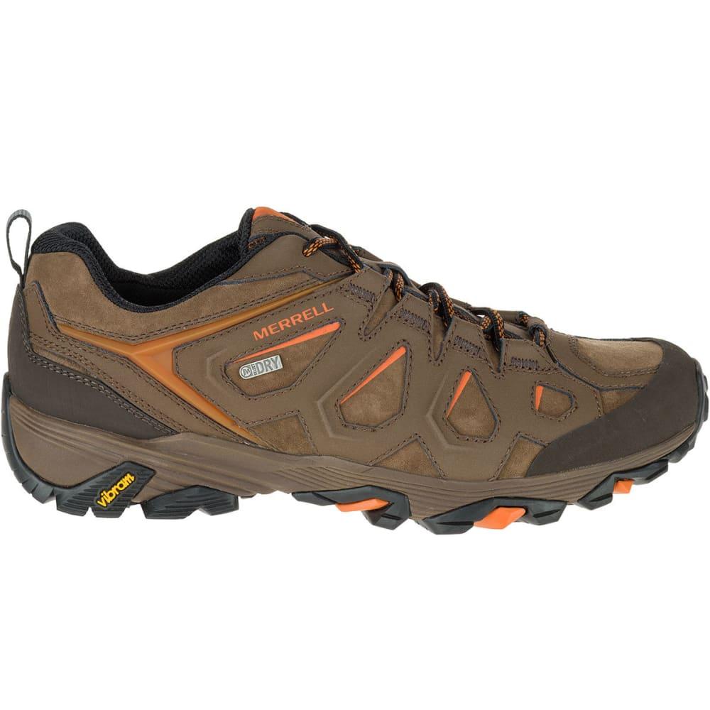 MERRELL Men's Moab FST Leather Waterproof Hiking Shoes, Dark Earth, Wide - DARK EARTH