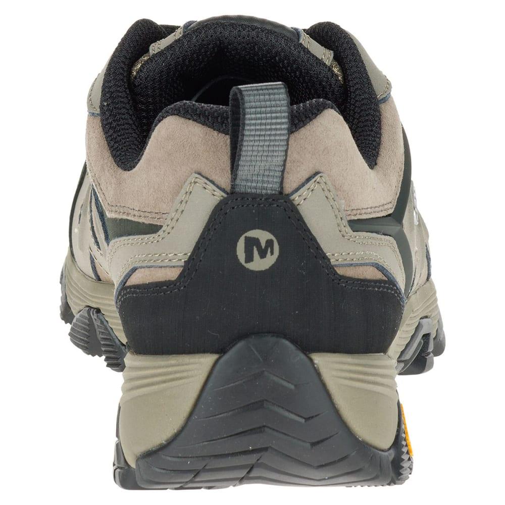 MERRELL Men's Moab FST Leather Waterproof Hiking Shoes, Boulder - BOULDER