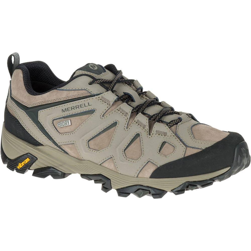 MERRELL Men's Moab FST Leather Waterproof Hiking Shoes, Boulder, Wide - BOULDER