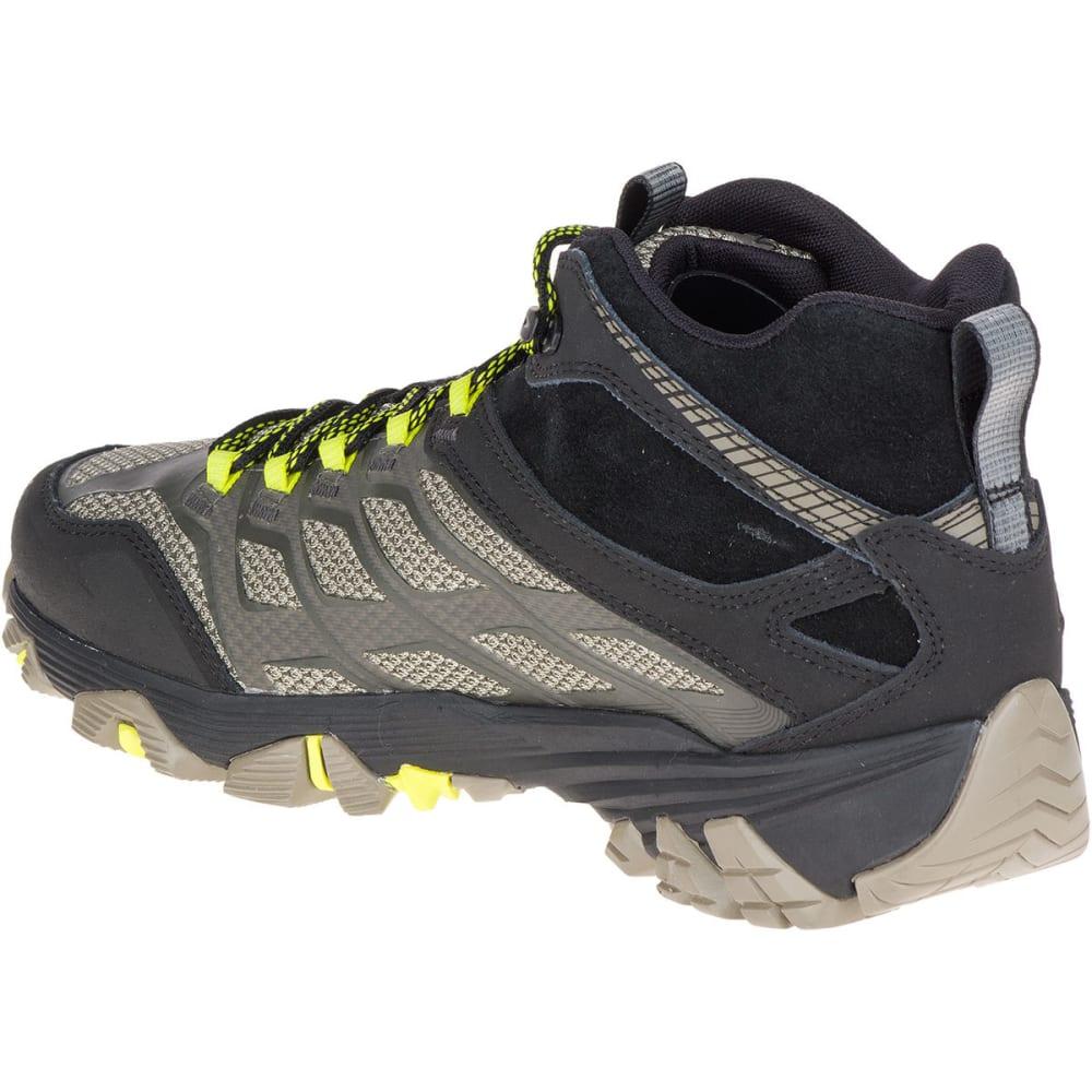 MERRELL Men's Moab FST Mid Waterproof Hiking Boots, Olive Black - OLIVE BLACK