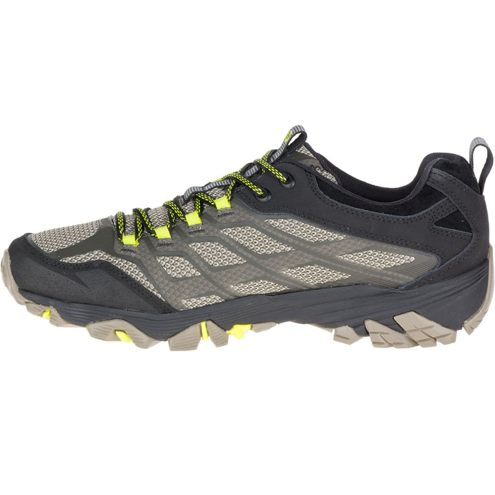 MERRELL Men's Moab FST Waterproof Hiking Shoes, Olive Black - OLIVE BLACK