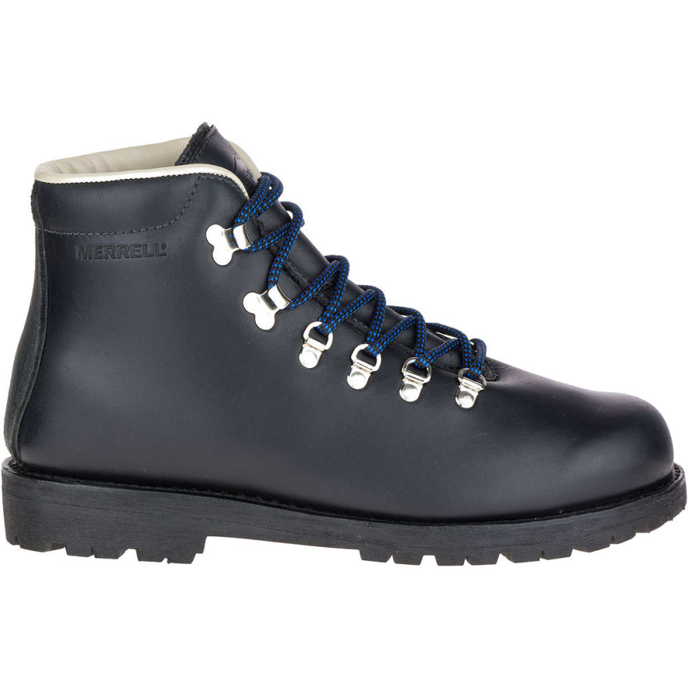 MERRELL Men's Wilderness Waterproof Hiking Boots, Black - BLACK