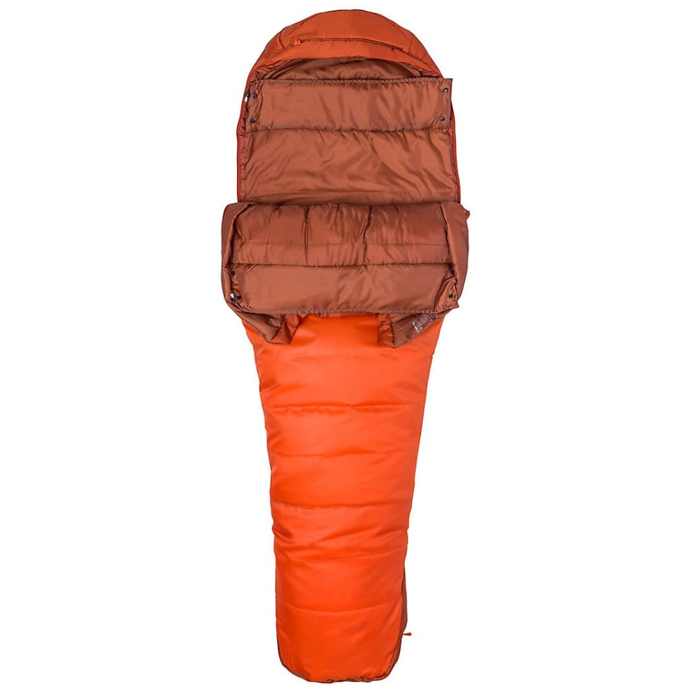 MARMOT Trestles 0 Sleeping Bag, Long - ORANGE HAZE/RUST
