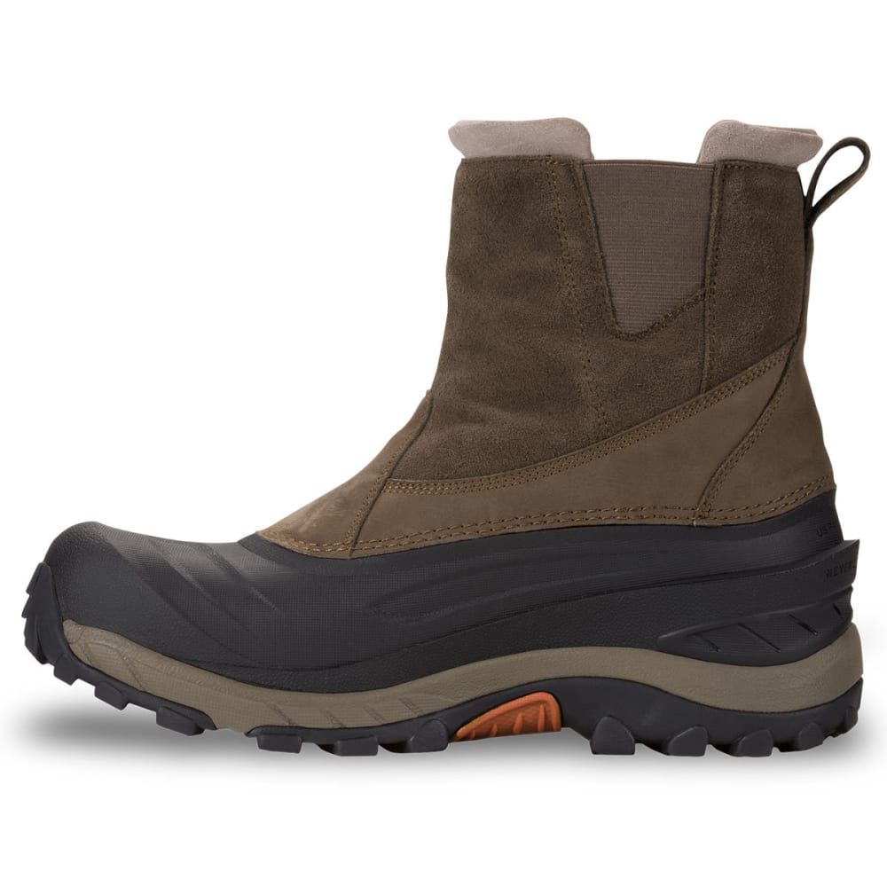 THE NORTH FACE Men's Chilkat III Pull-On Mid Waterproof Winter Boots, Mudpack Brown/Orange - MUDPACK BROWN/ORANGE