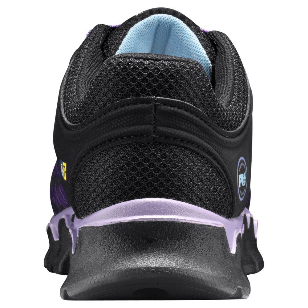 TIMBERLAND PRO Women's Powertrain Sport SD+ Alloy Toe Work Shoes, Lavender - BLACK/LAVENDAR