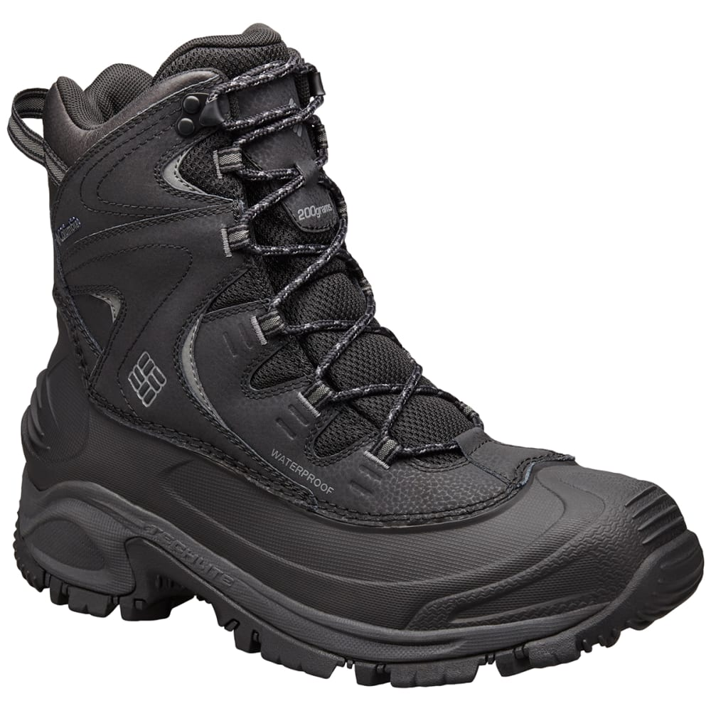 COLUMBIA Men's Bugaboot II Waterproof Insulated Mid Winter Boots, Black, Wide - BLACK