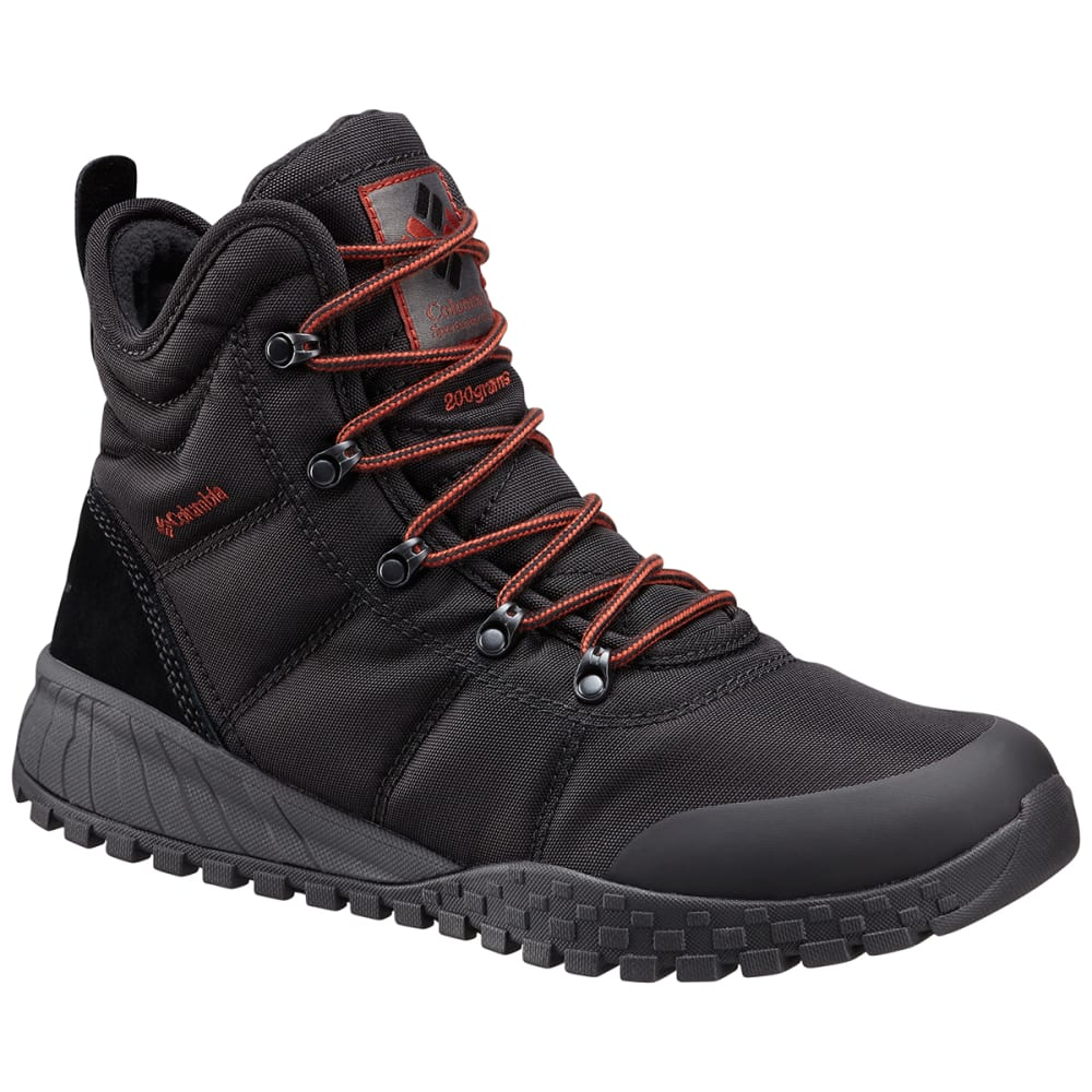 COLUMBIA Men's Fairbanks Omni-Heat Waterproof Insulated Mid Winter Boots - BLACK