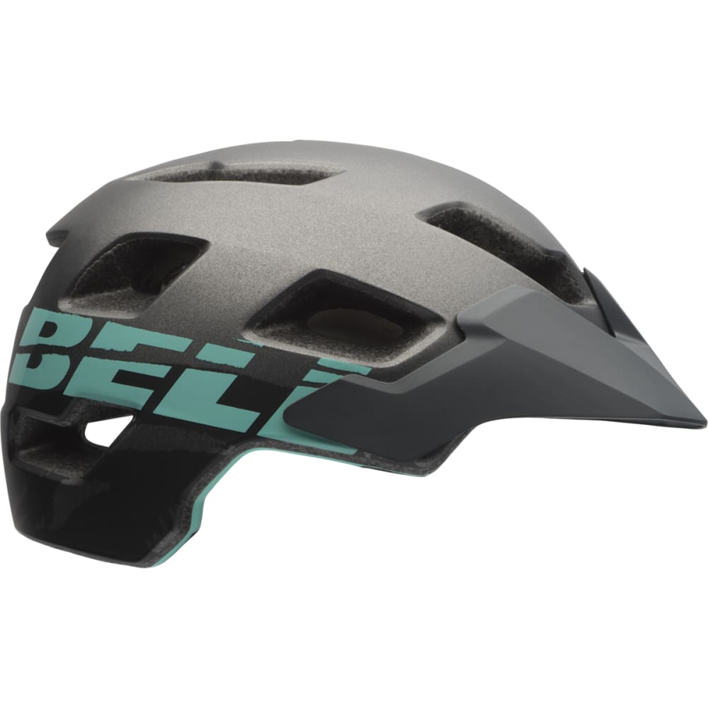 BELL Women's Rush Mountain Bike Helmet - MATTE GUNMETAL/MINT