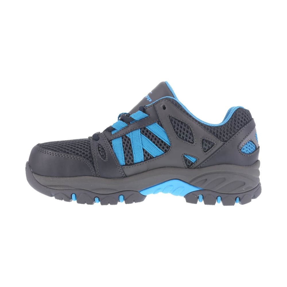 KNAPP Women's Allowance Sport work shoes, Charcoal/ Blue, Wide - CHARCOAL / BLUE