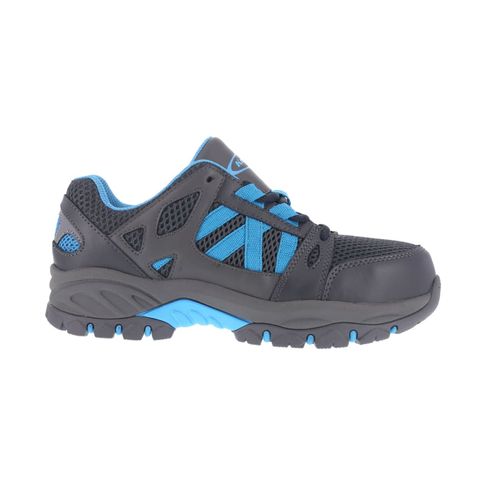 KNAPP Women's Allowance Sport work shoes, Charcoal/ Blue, Wide - CHARCOAL / BLUE