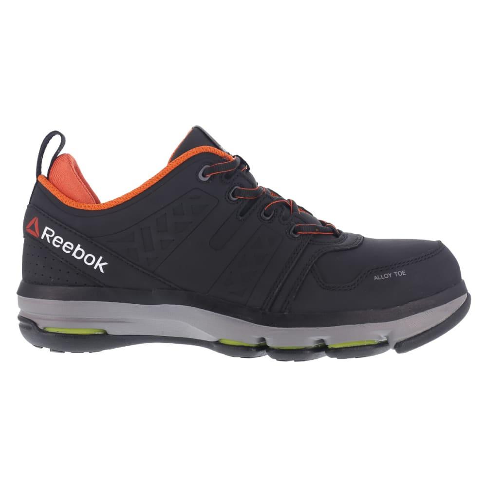 REEBOK WORK Men's DMX Flex Alloy Toe Work Shoes, Black/Orange - BLACK/ORANGE