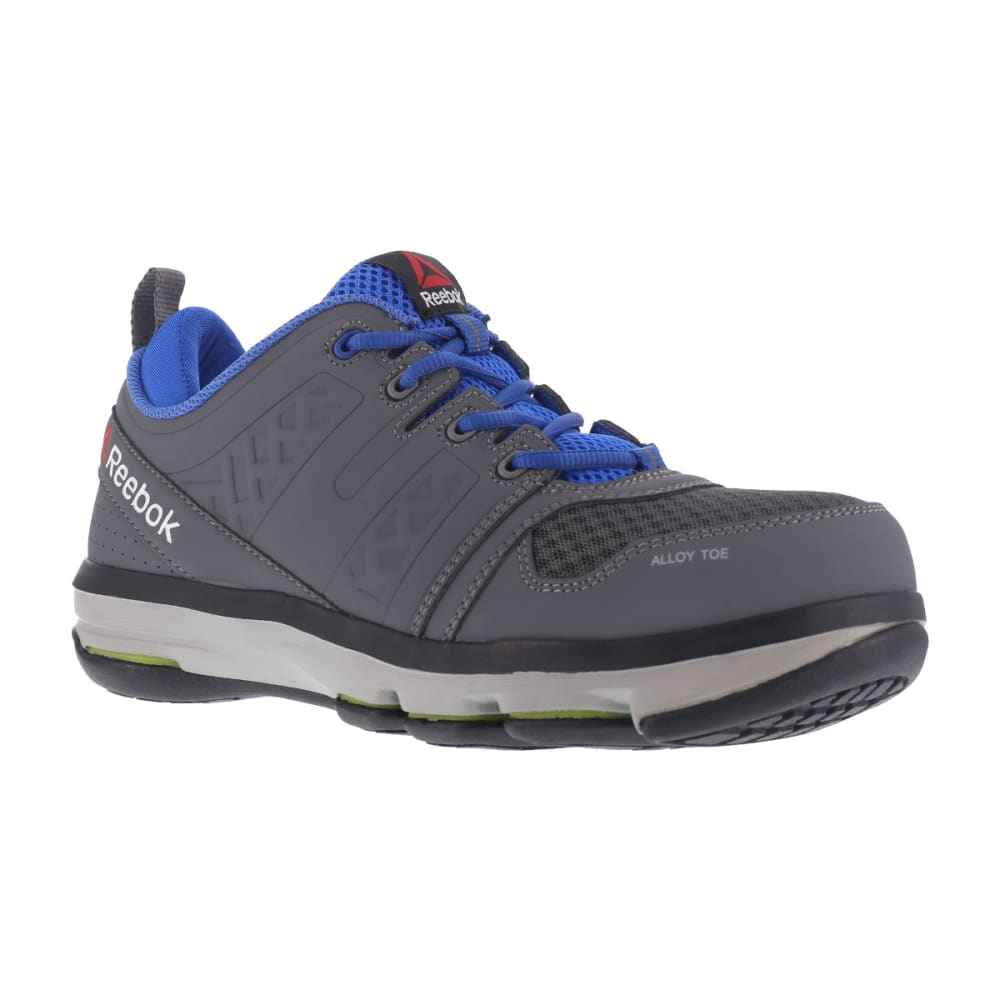 REEBOK WORK Men's DMX Flex Work Alloy Toe Work Shoes, Grey/ Blue 9