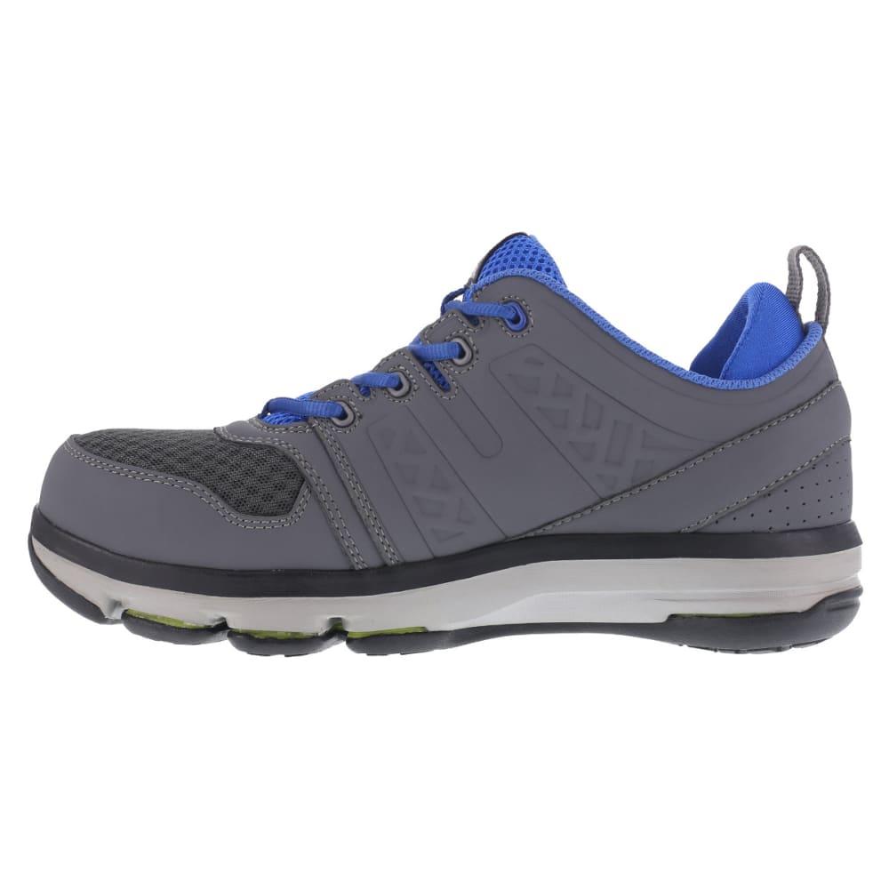 REEBOK WORK Men's DMX Flex Work Alloy Toe Work Shoes, Grey/ Blue, Wide - GREY/BLUE