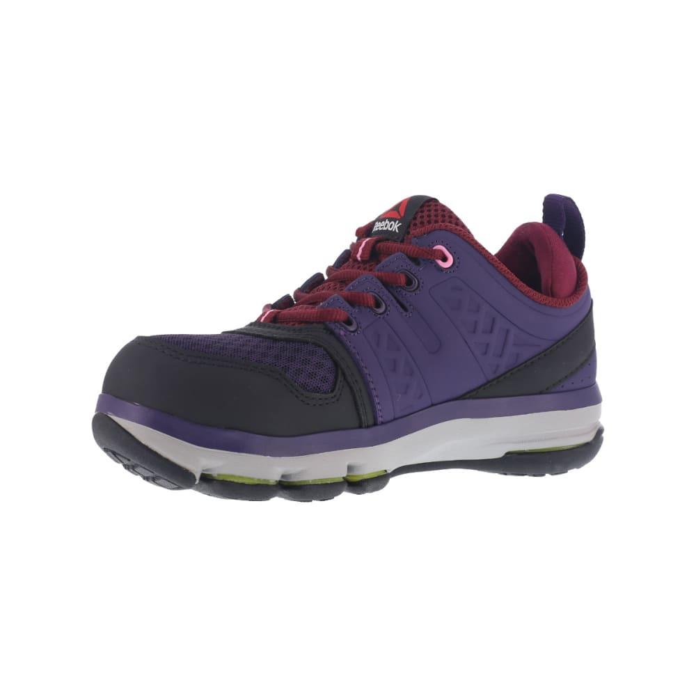 REEBOK WORK Women's DMX Flex Work Alloy Toe Work Shoes, Violet, Wide - VIOLET