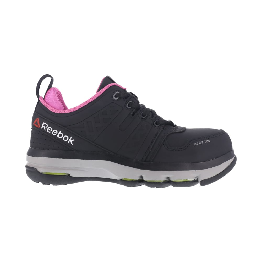 REEBOK WORK Women's DMX Flex Work Alloy Toe Work Shoes, Black/ Pink - BLACK/PINK