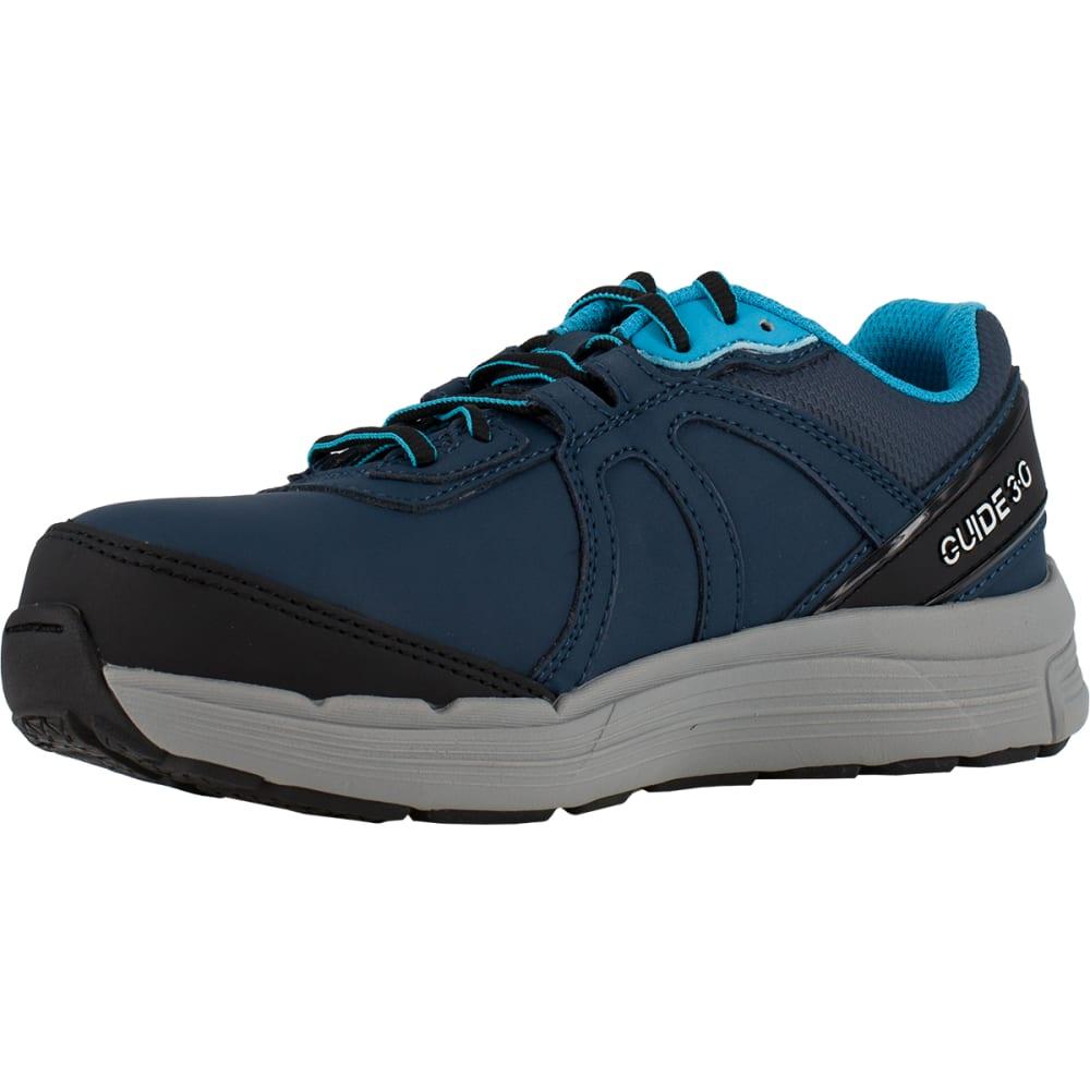 REEBOK WORK Women's Guide Work Steel Toe Work Shoes, Navy/ Light Blue, Wide - Navy/Light Blue
