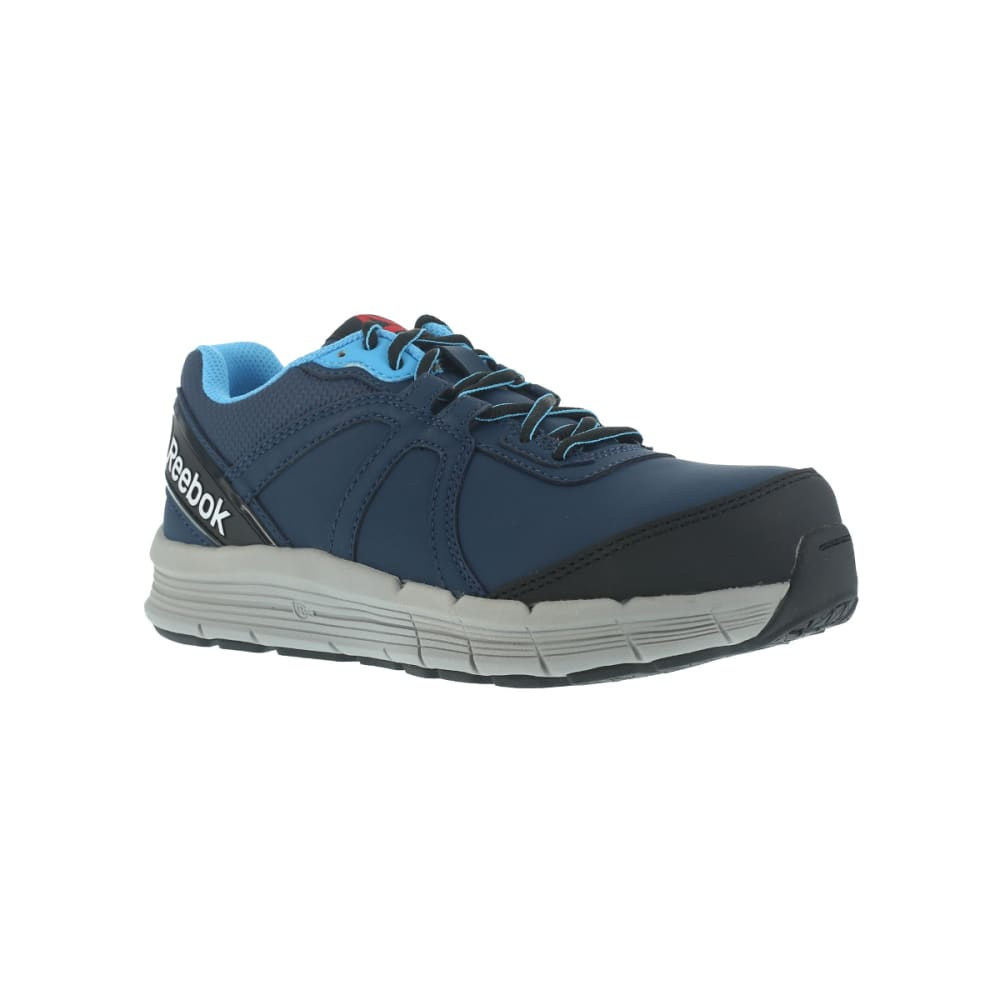 REEBOK WORK Women's Guide Work Steel Toe Work Shoes, Navy/ Light Blue, Wide 6