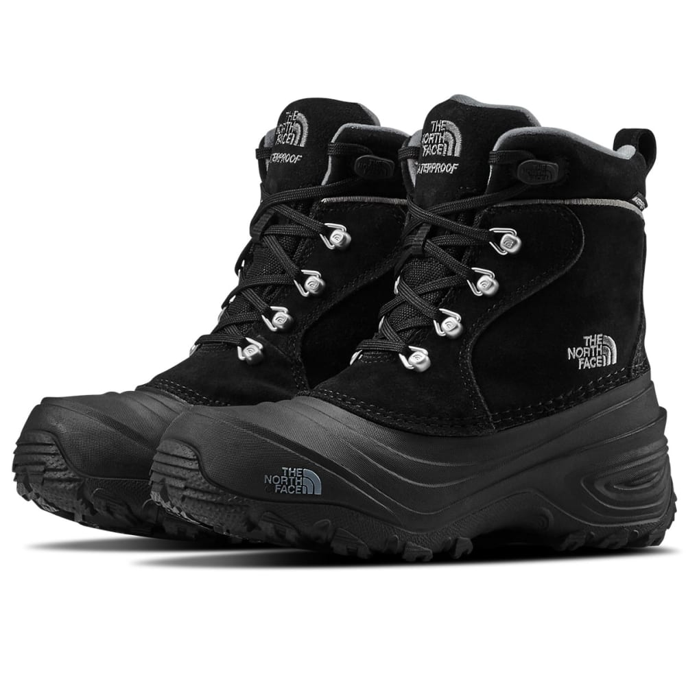 THE NORTH FACE Boys' Chilkat Lace II Waterproof Winter Boots, Mudpack Brown/Sienna Orange - TNF BLK/ZNC GRY-KZ2