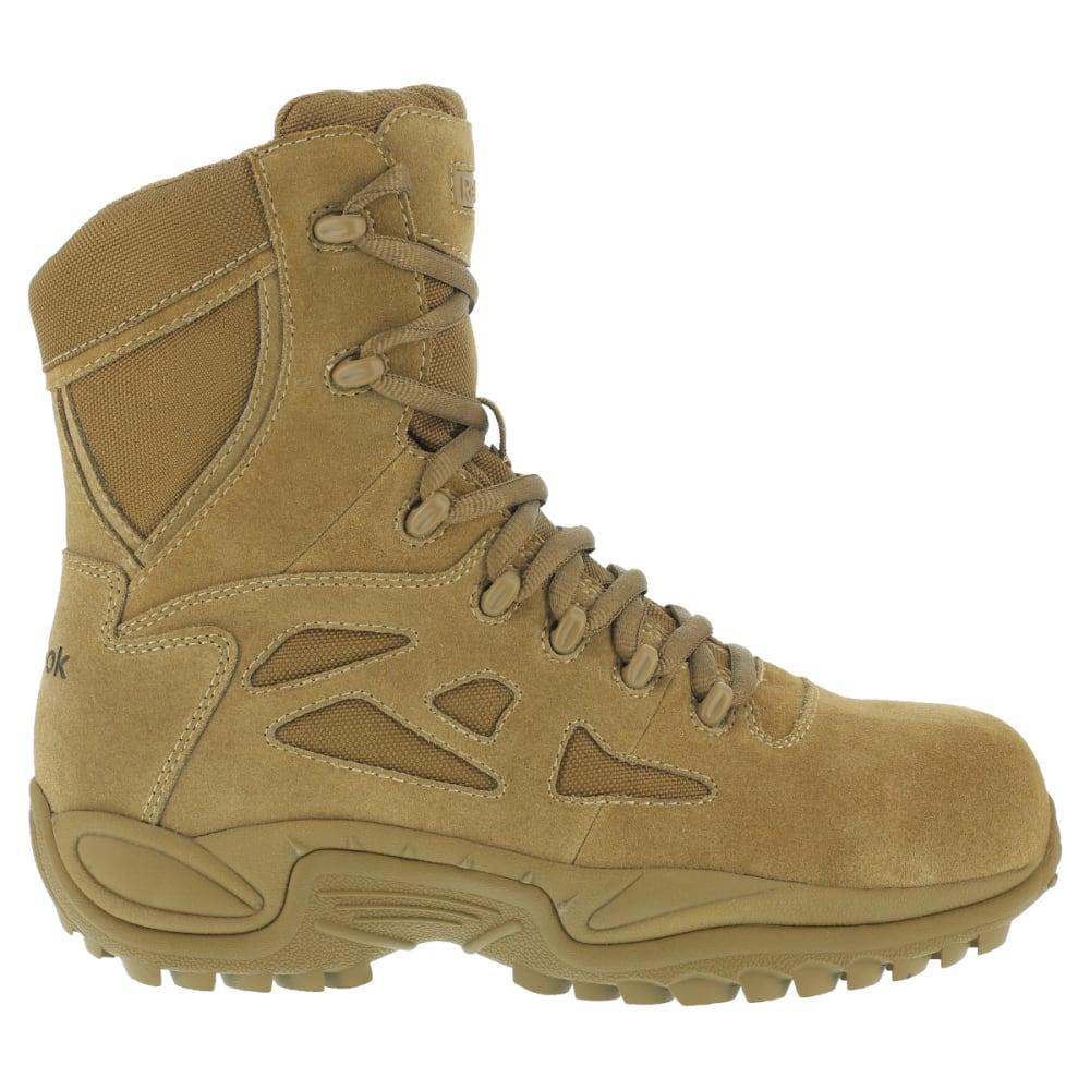REEBOK WORK Men's Rapid Response 8inch RB Composite Toe Work Boots, Coyote, Wide - COYOTE