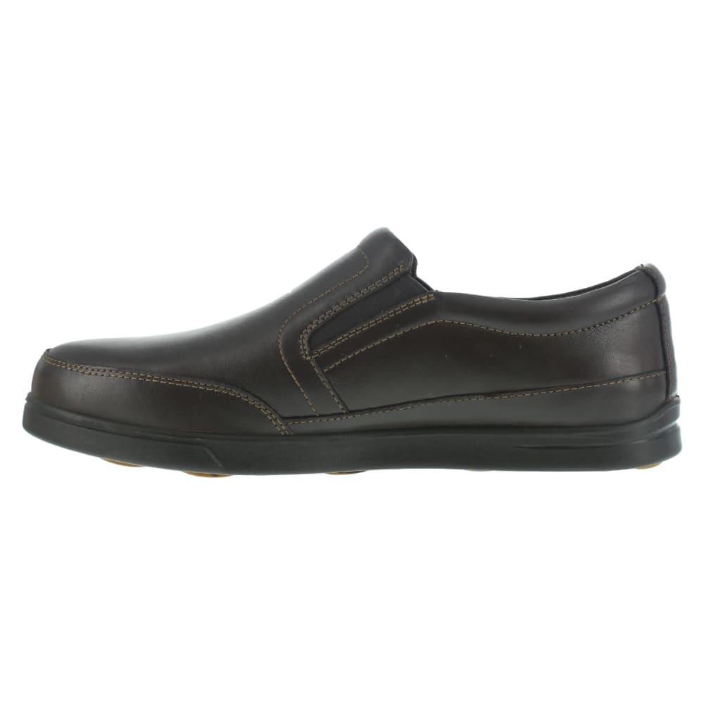 FLORSHEIM WORK Men's Stoss Steel Toe Oxford Work Shoes, Brown, Wide - BROWN