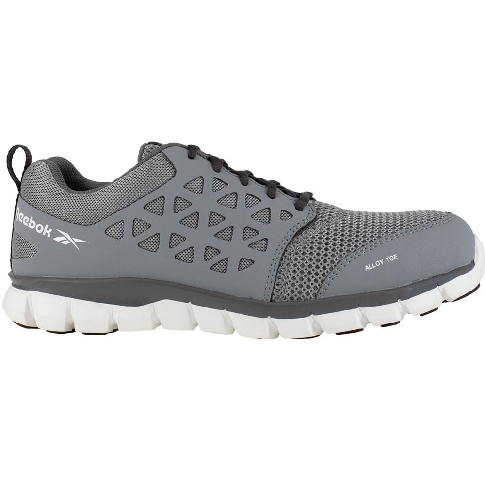 REEBOK WORK Men's Sublite Cushion Work Alloy Toe Work Shoes, Grey, Wide - GREY