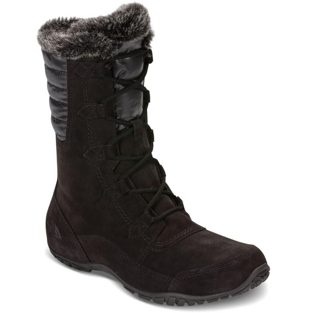 THE NORTH FACE Women's Nuptse Purna II Waterproof Winter Boots, TNF Black/Beluga Grey 6