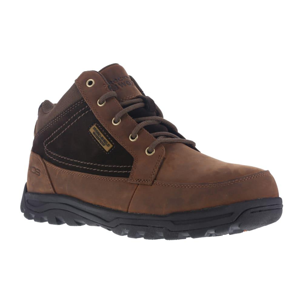 ROCKPORT WORKS Men's Trail Technique Steel Toe Trail Hiker Boots, Brown, Wide 8