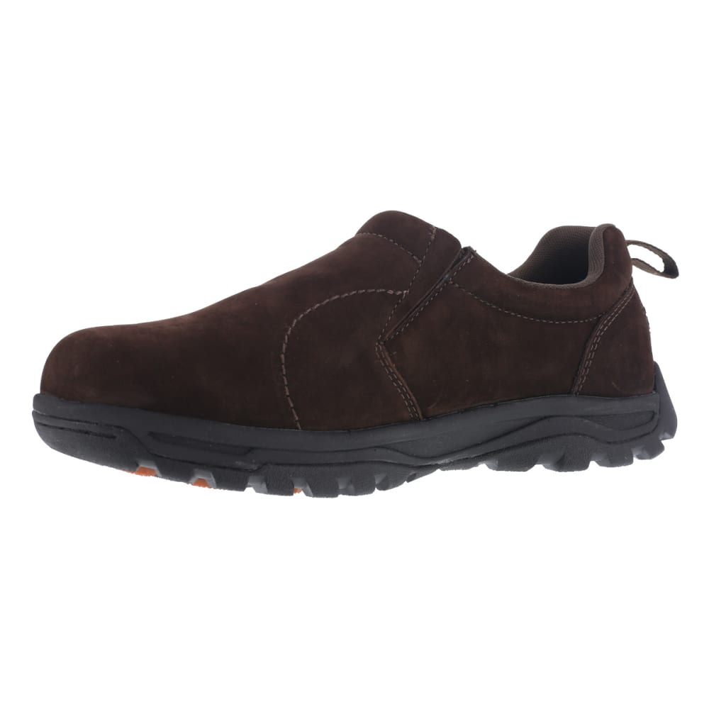 ROCKPORT WORKS Men's Trail Technique Steel Toe Trail Jungle Moc Shoes, Brown - BROWN