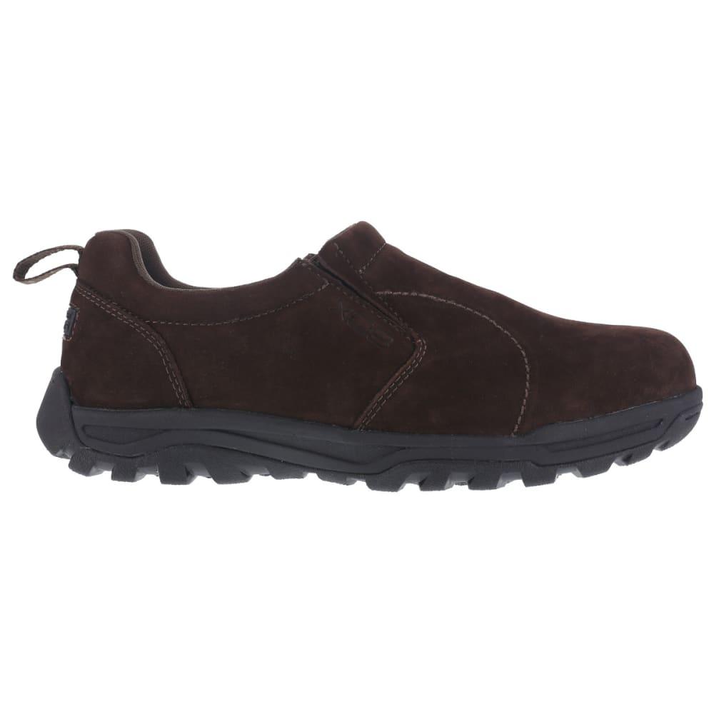 ROCKPORT WORKS Men's Trail Technique Steel Toe Trail Jungle Moc Shoes, Brown - BROWN