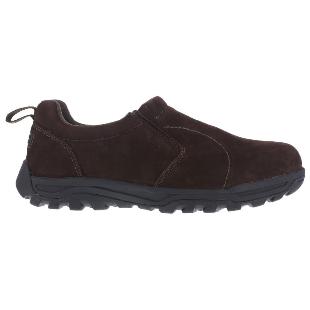 ROCKPORT WORKS Men's Trail Technique Steel Toe Trail Jungle Moc Shoes, Brown, Wide - BROWN