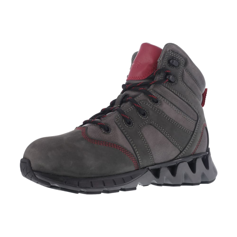 REEBOK WORK Women's Zigkick Carbon Toe Waterproof  Hiking Boots, Grey/ Fuchsia - GREY/FUCHSIA