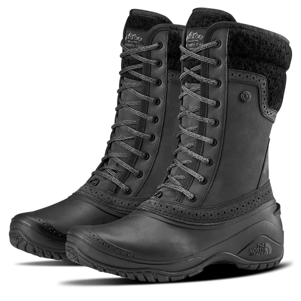THE NORTH FACE Women's Shellista II Mid Waterproof Boots, Tarmac Green/Tapenade Green - TNF BLK-KX7
