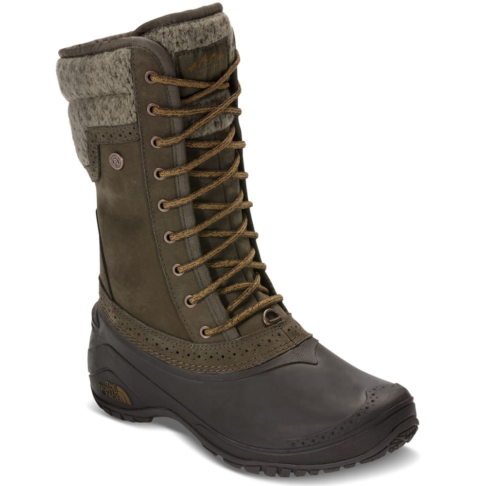 THE NORTH FACE Women's Shellista II Mid Waterproof Boots, Tarmac Green/Tapenade Green - TARMAC GREEN