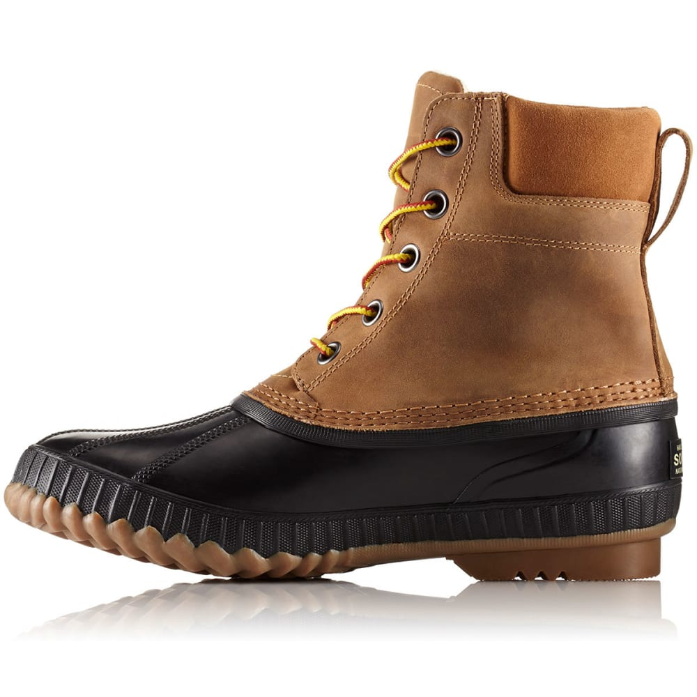 SOREL Men's 8 in. Cheyanne II Lace-Up Waterproof Duck Boots, Chipmunk - CHIPMUNK