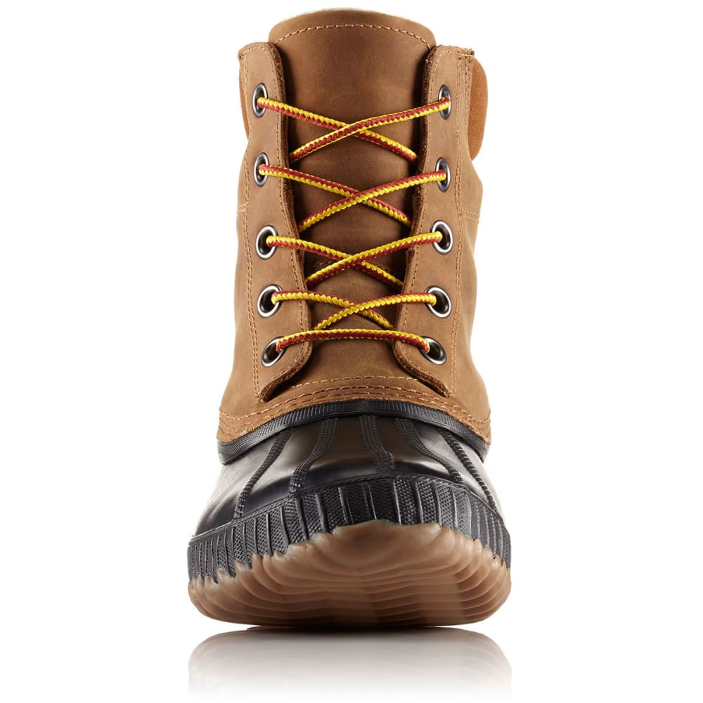 SOREL Men's 8 in. Cheyanne II Lace-Up Waterproof Duck Boots, Chipmunk - CHIPMUNK