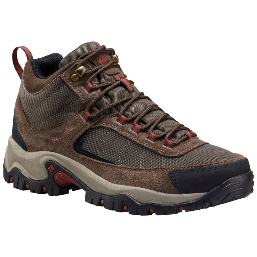 COLUMBIA Men's Granite Ridge Mid Waterproof Hiking Boots, Mud Rusty Brown, Wide - BROWN MUD RUSTY